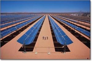 محطة كهرباء تعمل بالطاقة الشمسية الحرارية